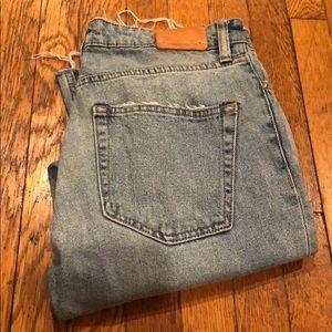 Straight leg high waisted button-fly Zara jeans